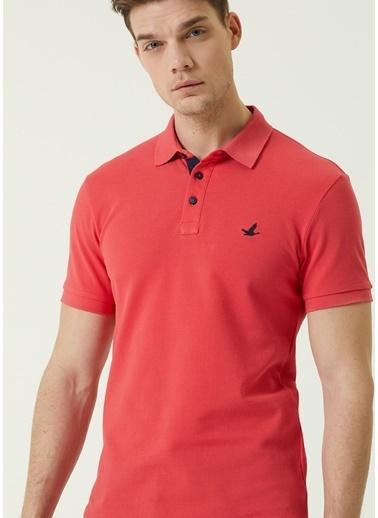 Beymen Club Beymen Club Slim Fit  Polo Yaka Logolu T-shirt 101589619 Kırmızı